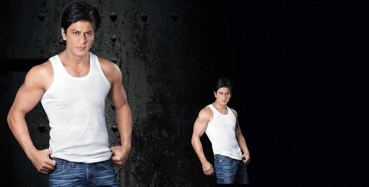 Shahrukh Khan Nice Figure Show Photo Ad For Lux Cozi ONN