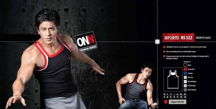 Shahrukh Khan Nice Look Photo Ad For Lux Cozi ONN