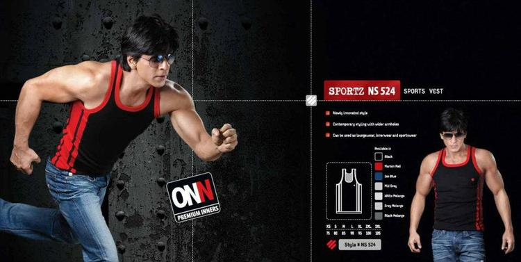 Shahrukh Khan Nice Running Photo Ad For Lux Cozi ONN
