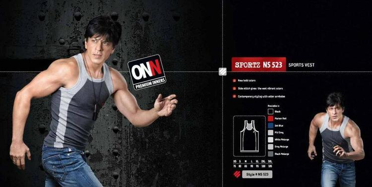 Shahrukh Khan Running Photo Ad For Lux Cozi ONN