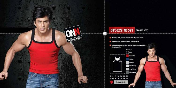 Shahrukh Khan In Sports Vest Ad For Lux Cozi ONN