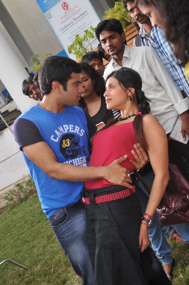 Sreeram And Barbie Sexy Expression Photo Still From Movie Prema Geema Jantha Nai