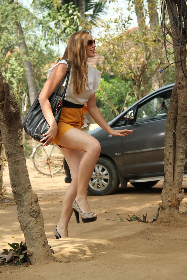 Rachel Walking Still From Welcome Obama Movie