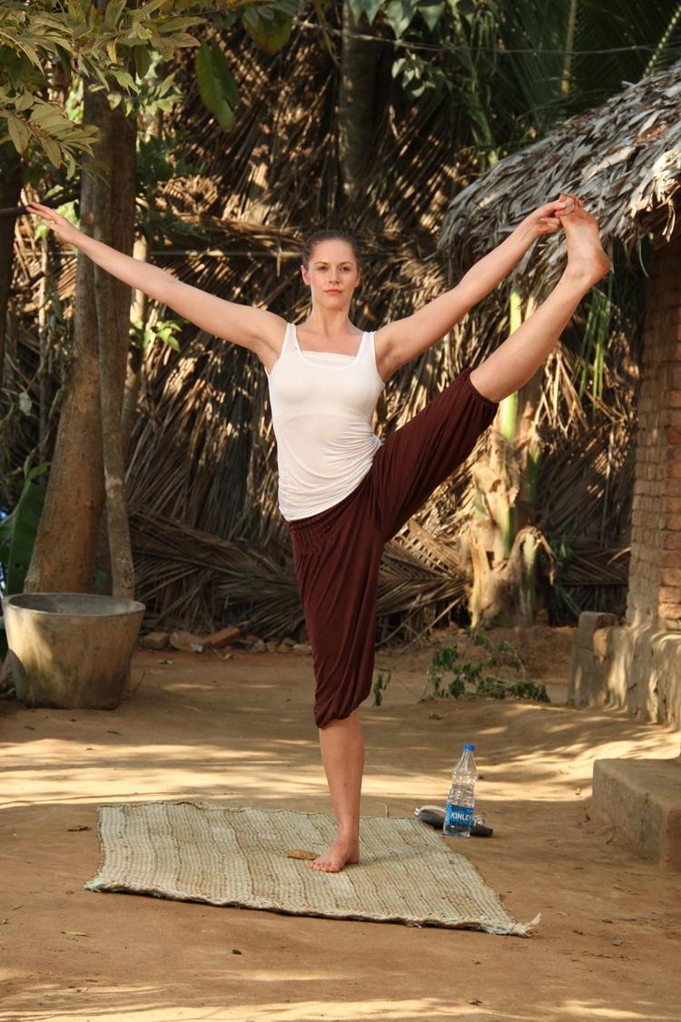 Rachel In Yoga Pose Nice Still