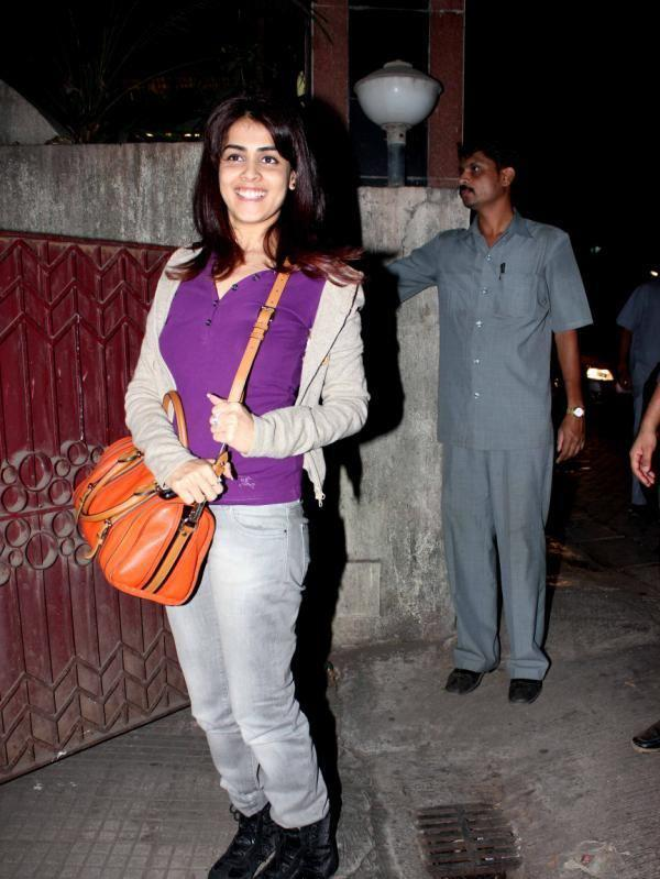 Genelia D'Souza Posed For Camera At The Special Screening Of Balak Palak