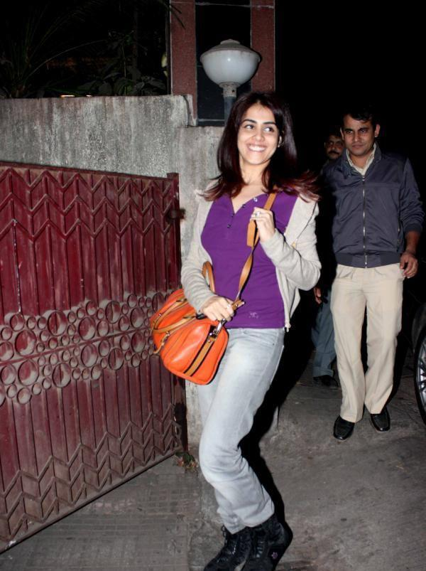Genelia D'Souza Strikes A Pose At The Special Screening Of Balak Palak