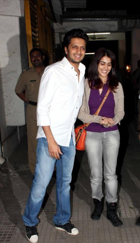 Riteish And Wife Genelia Attend The Special Screening Of Balak Palak