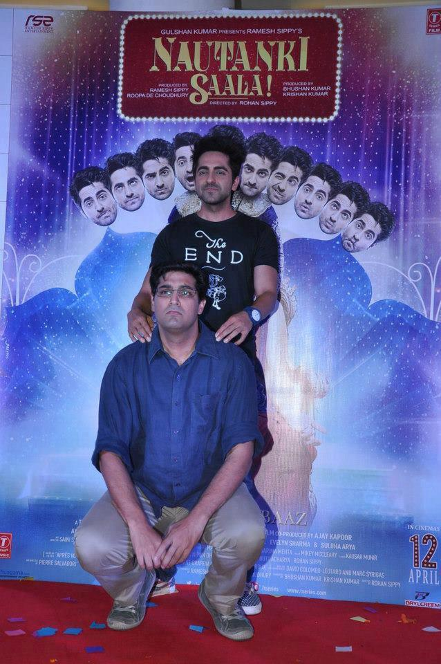 Ayushmann And Kunal Posed For Camera At Nautanki Saala Audio Launch