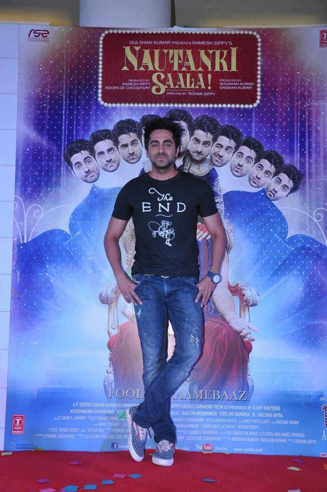 Ayushmann Strikes A Pose At Nautanki Saala Audio Launch