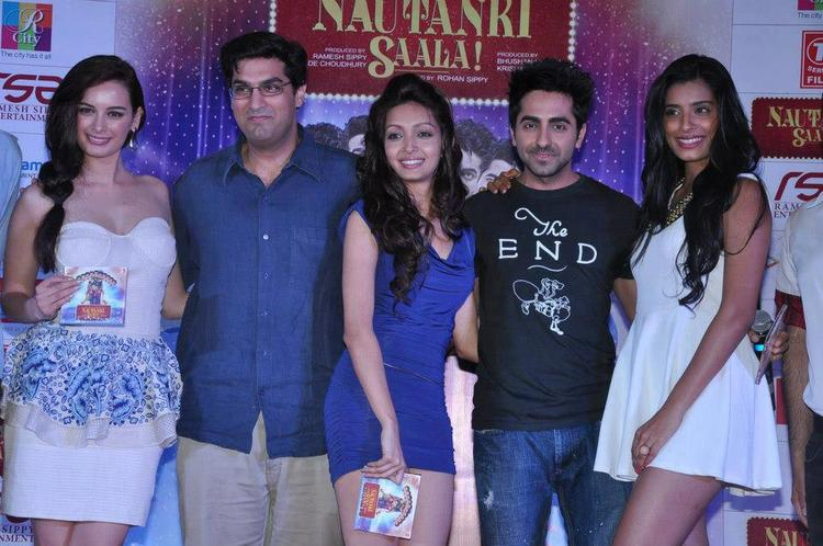Evelyn,Kunal,Ayushmann,Gaelyn And Pooja Make An Appearance At Nautanki Saala Audio Launch