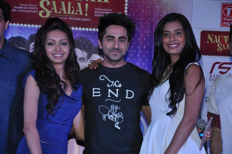 Pooja,Ayushmann And Gaelyn Spotted At Nautanki Saala Audio Launch