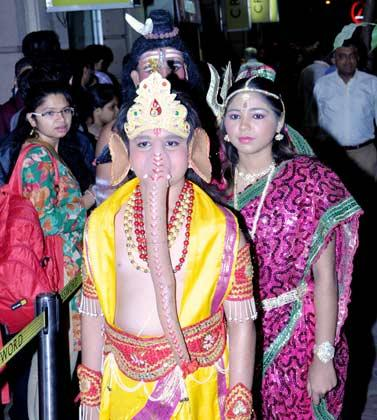 A Boy As Lord Ganesha At The Launch Of The Oath Of The Vayuputras Book