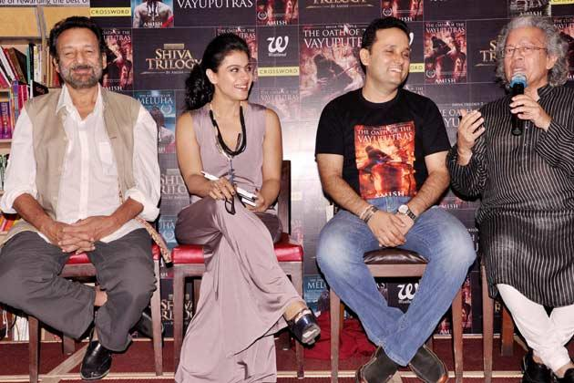 Shekhar,Kajol,Amish And Anil Make An Appearance At The Launch Of The Oath Of The Vayuputras Book