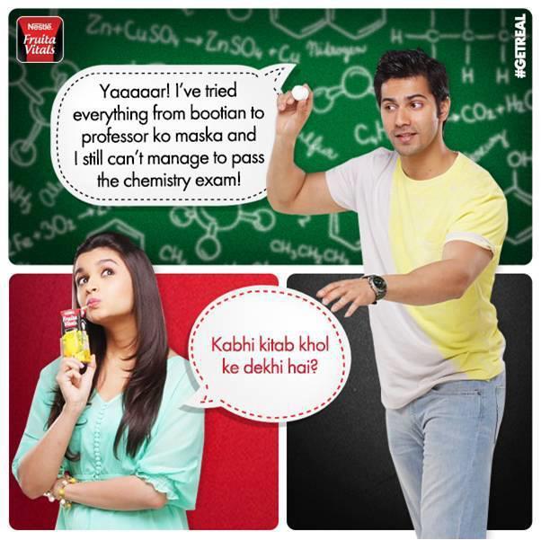 Varun And Alia Cool Photo Shoot For Nestle Fruita Vitals Ads