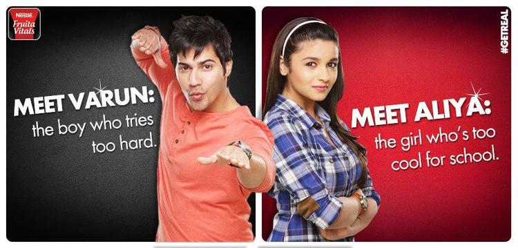 Varun And Alia Feature On The New Nestle Fruita Vitals Print Ads