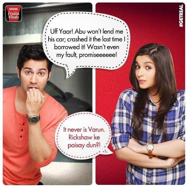 Varun And Alia Nice Look Photo Shoot For Nestle Fruita Vitals Ads