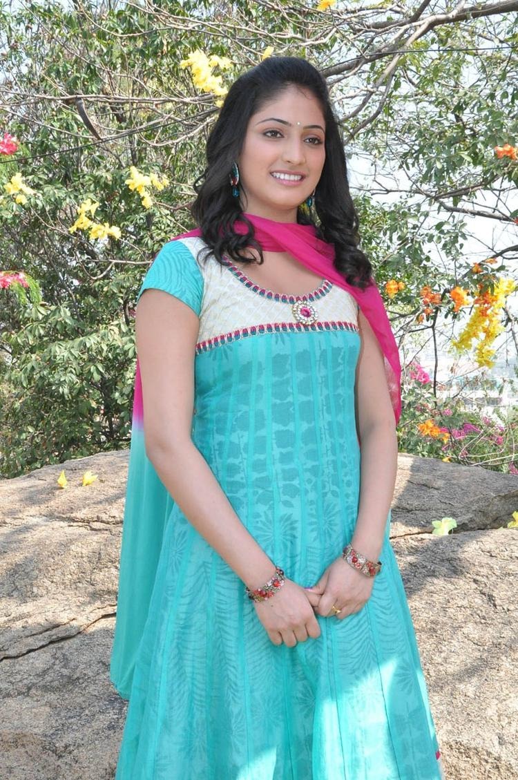 Haripriya Charming Look Photo Still At Ee Varsham Sakshiga Movie Launch Function