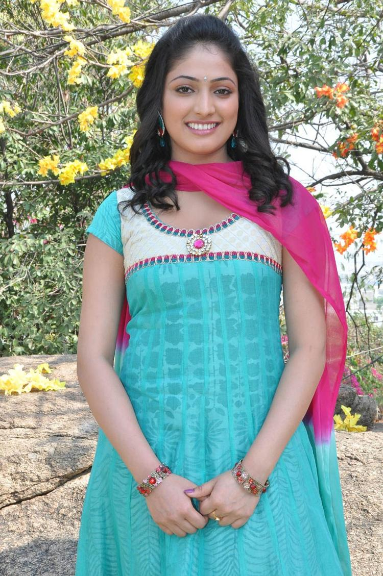 Haripriya Looked Ravishing In A Chudidar At Ee Varsham Sakshiga Movie Launch Function