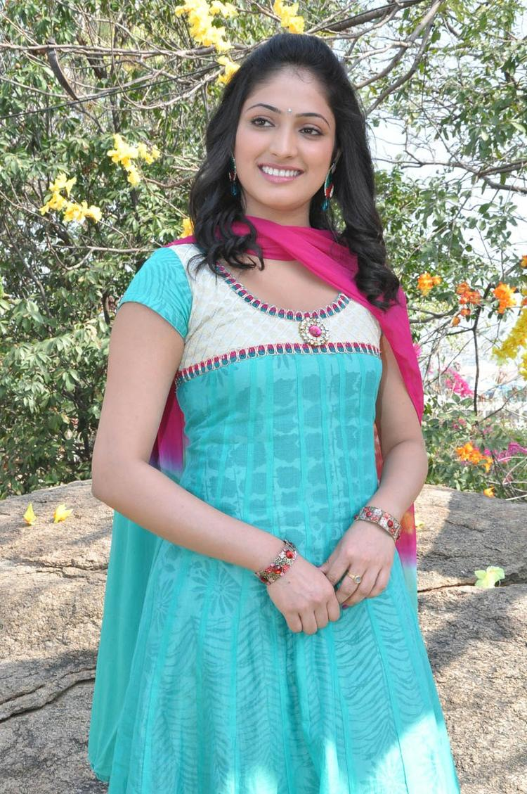 Haripriya Stunning Look Photo Still At Ee Varsham Sakshiga Movie Launch Function
