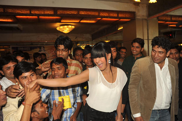 Veena Malik Smiling Cool Look At Kiss Event