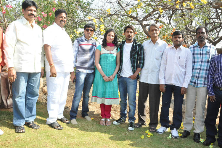 Haripriya And Varun With Team Posed For Camera At Ee Varsham Sakshiga Movie Launch