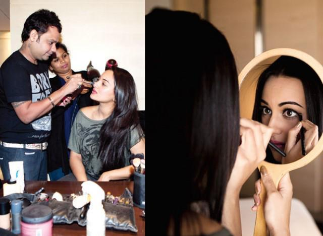 Sonakshi Sinha Take Make Up On The Sets Of Filmfare