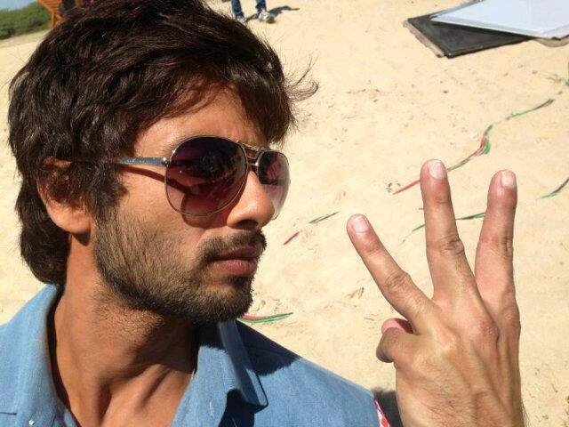 Shahid Kapoor On The Sets Of Rambo Rajkumar At The Third Day Of Shooting