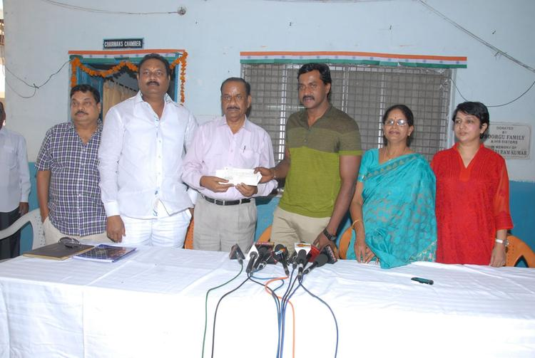 Sunil Varma,B.Jaya And BA Raju Clicked On Sunil's Birthday Celebrations At Devnar Foundation Blind School