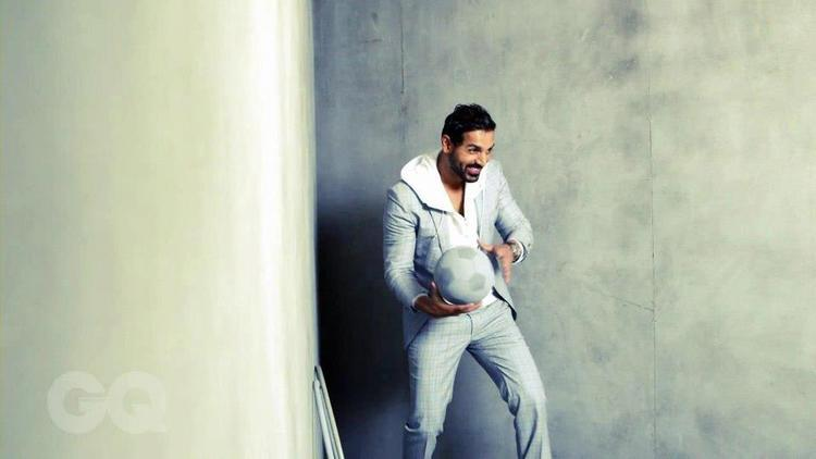John Abraham Photo Shoot With A Football For GQ India Magazine March 2013