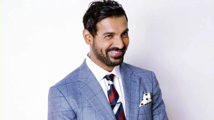 John Abraham Smiling Look Dimple Show Photo Shoot For GQ India Magazine March 2013