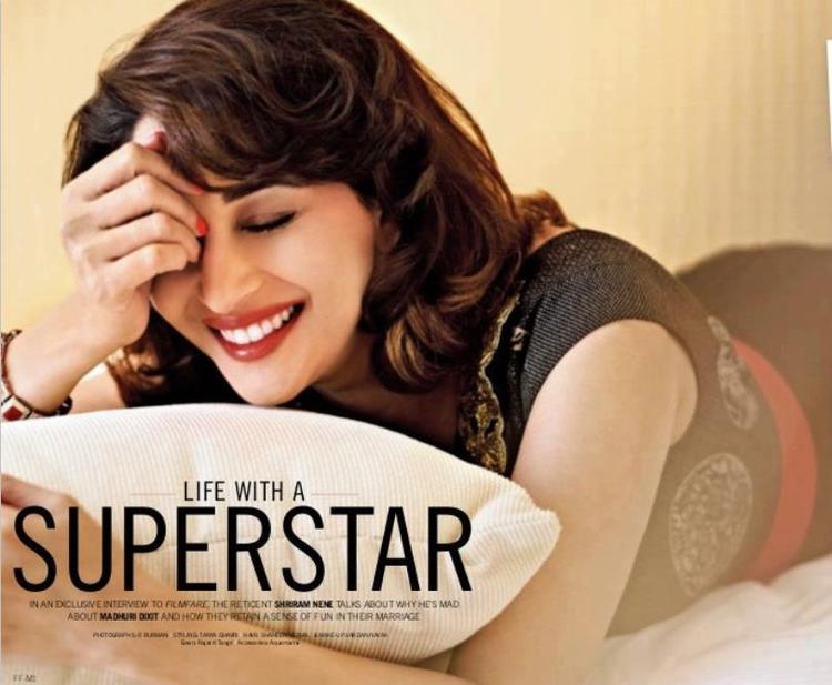 Madhuri Dixit Beautiful Look Photo Shoot For Filmfare March 2013