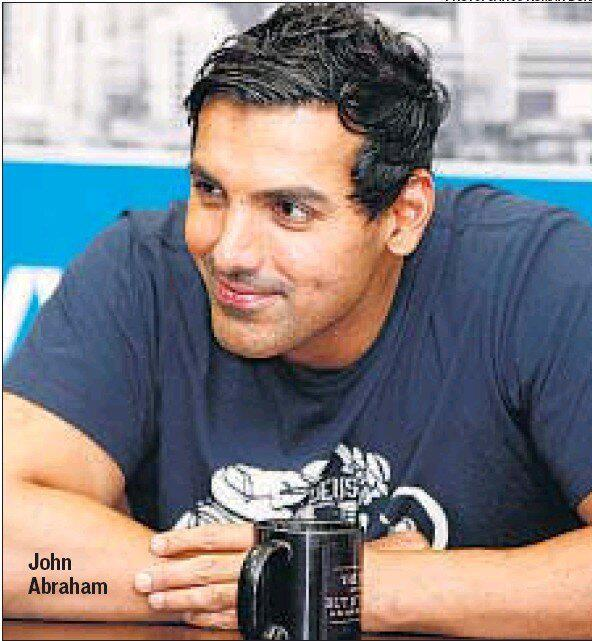 John Abraham Cute Look At HT Cafe Office