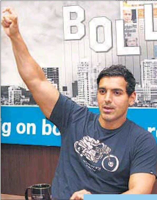 John Abraham Nice Look At HT Cafe Office