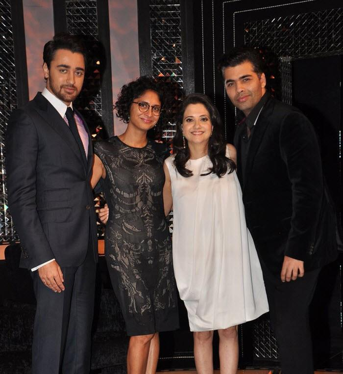 Imran,Kiran And Karan Posed With Anupama On The Front Row Show