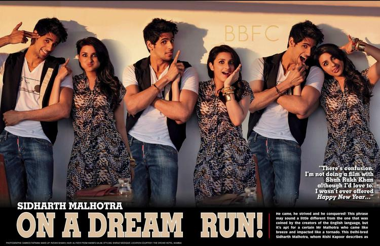 Sidharth Malhotra And Parineeti Chopra Cool Photo Shoot For Stardust March 2013 Issue