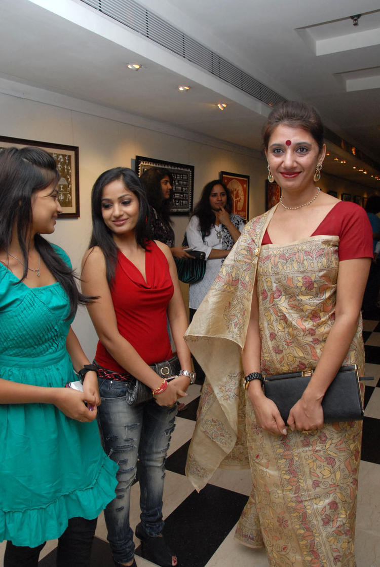 Madhavi Latha Attend The Tribal Beauty Art Exhibition Launch Event
