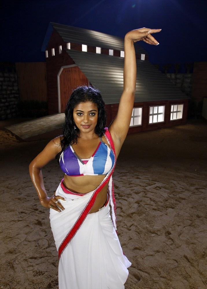 Priyamani In White Saree Latest Hot Still From Tikka Movie