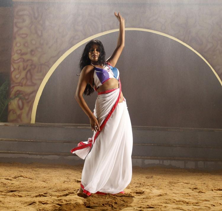 Priyamani In White Saree Spicy Look From Tikka Movie