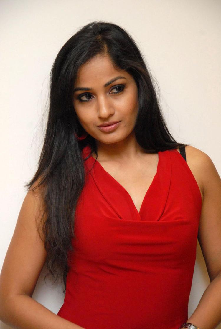 Madhavi Sexy Look Photo Still At Tribal Beauty Art Exhibition