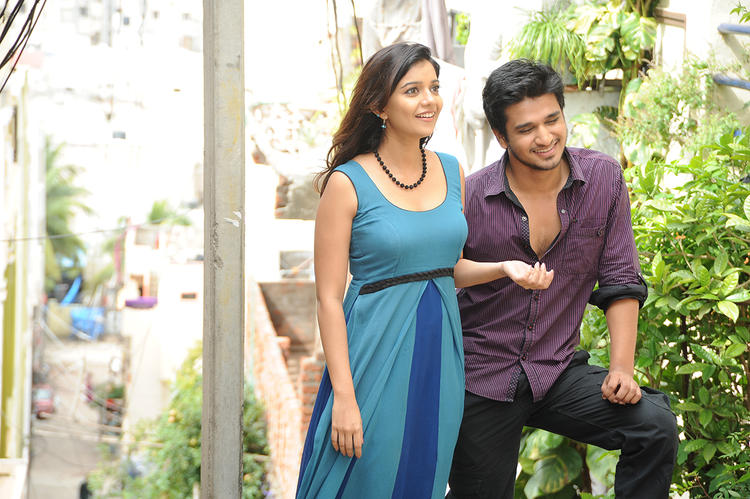 Nikhil And Swati Nice Cool Look Still From Swami Ra Ra Movie