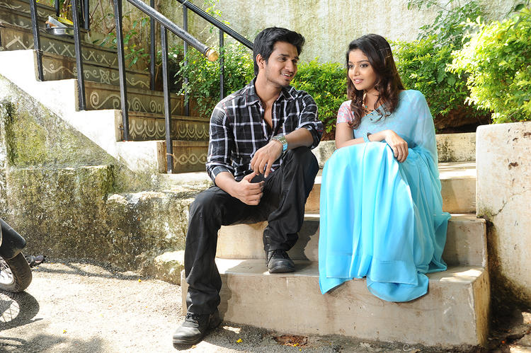 Nikhil And Swati A Still From Swami Ra Ra Movie