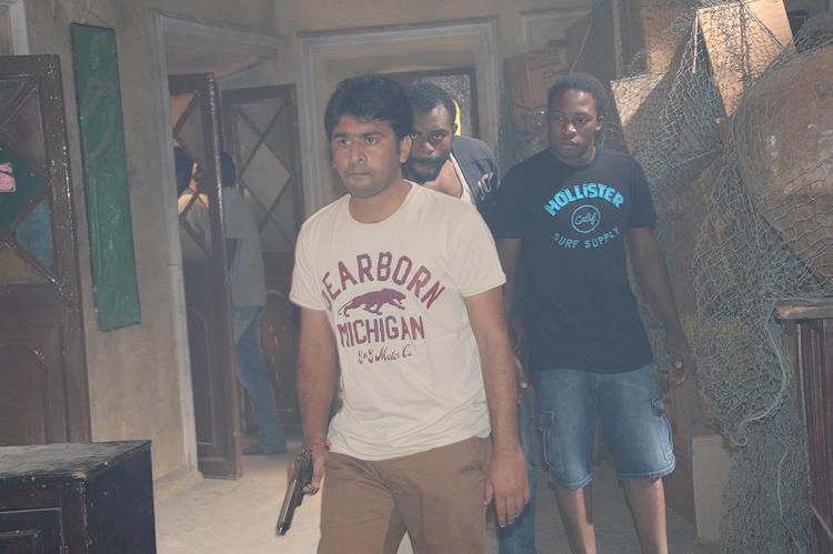 Director Sudhir Verma On The Sets Of Swamy Ra Ra Movie