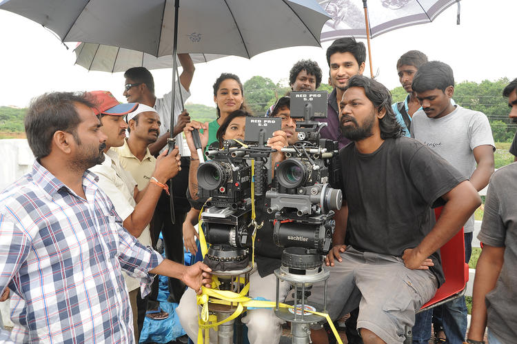 Nikhil Siddharth And Swati Reddy On The Sets Of Swamy Ra Ra Movie