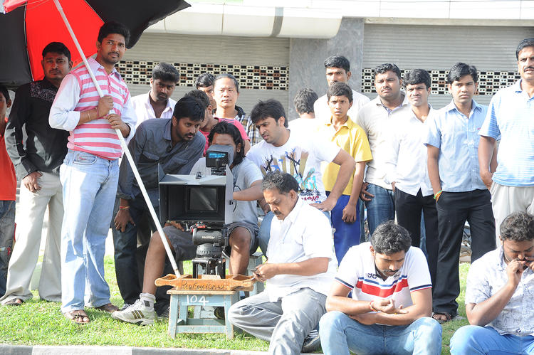 Nikhil Siddharth On The Sets Of Swamy Ra Ra Movie