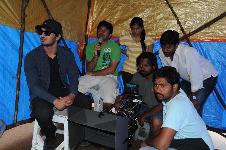 Sudhir Verma And Nikhil Siddharth Nice Look On The Sets Of Swamy Ra Ra Movie