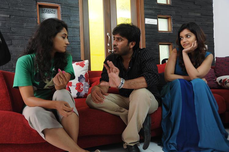 Sudhir Verma And Swati Reddy On The Sets Of Swamy Ra Ra Movie