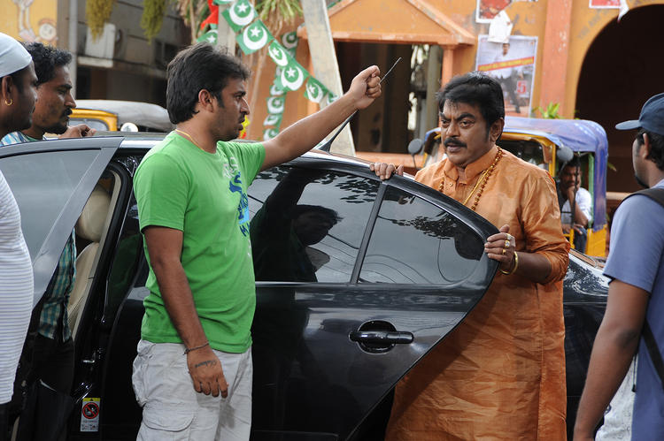 Sudhir Verma Direction Still On The Sets Of Swamy Ra Ra Movie