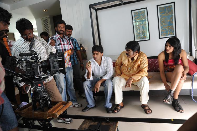 Sudhir Verma Posed On The Sets Of Swamy Ra Ra Movie