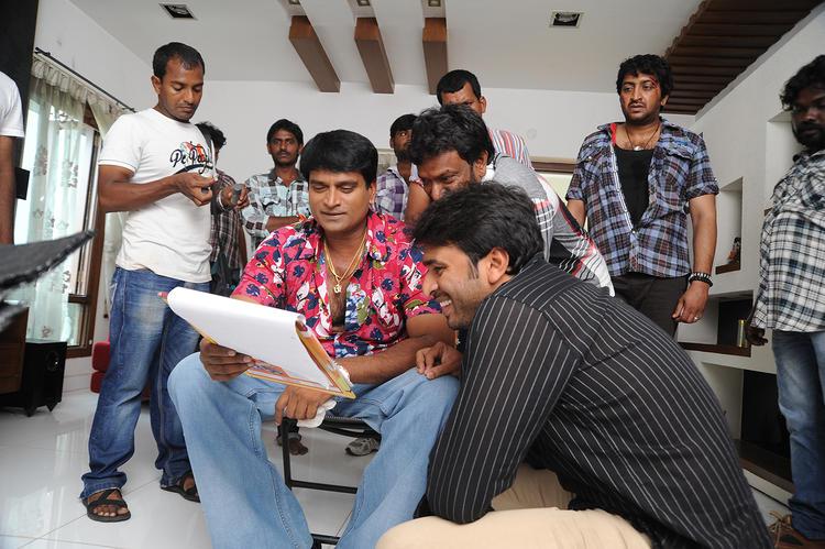 Sudhir Verma Script Reading Look On The Sets Of Swamy Ra Ra Movie
