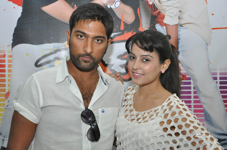 Vikram Veer And Disha Pandey Cool Pose At Race Movie Press Meet